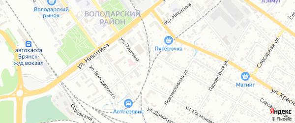 Улица Розы Люксембург на карте Брянска с номерами домов