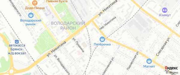 Переулок Розы Люксембург на карте Брянска с номерами домов
