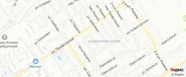 Переулок Шевченко на карте Брянска с номерами домов