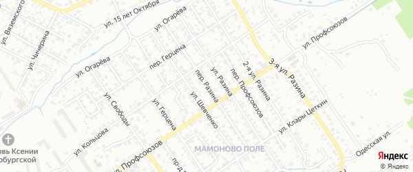 Переулок Разина на карте Брянска с номерами домов