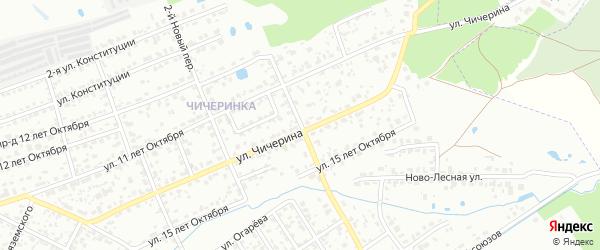 3-й Новый переулок на карте Брянска с номерами домов