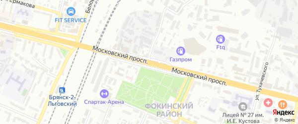 Московский проспект на карте Брянска с номерами домов