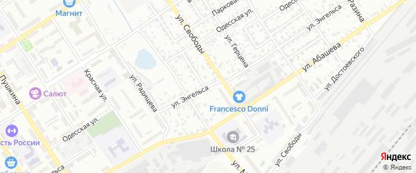 Улица Энгельса на карте Брянска с номерами домов