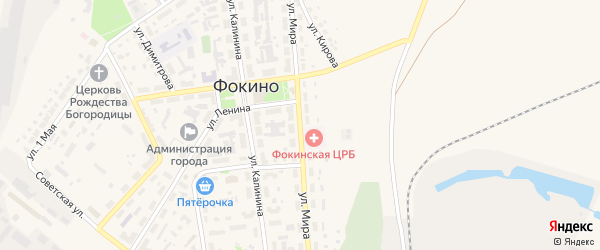 Улица Мира на карте Фокино с номерами домов