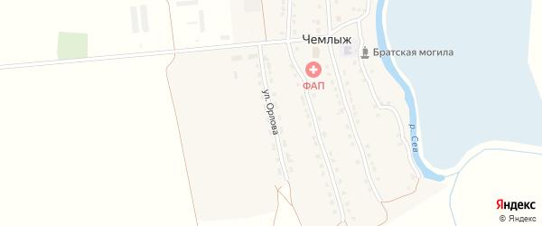 Улица Орлова на карте села Чемлыжа с номерами домов