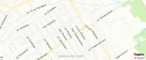 Переулок Профсоюзов на карте Брянска с номерами домов