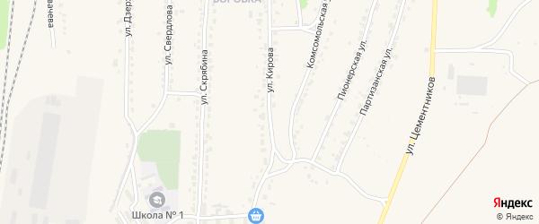 Улица Кирова на карте Фокино с номерами домов