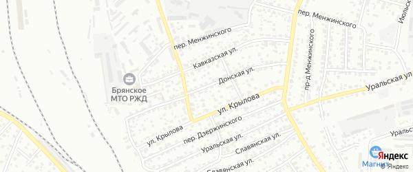 Донская улица на карте Брянска с номерами домов