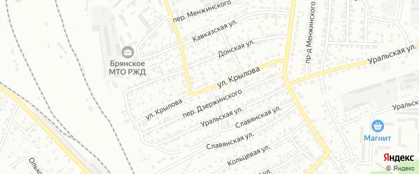 Улица Крылова на карте Брянска с номерами домов