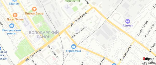 Переулок Никитина на карте Брянска с номерами домов