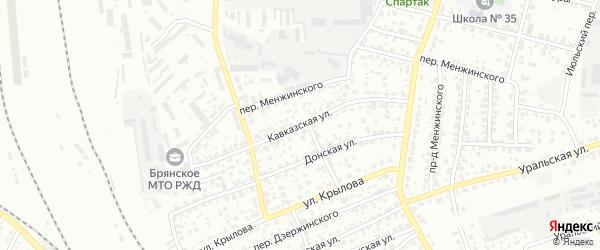 Кавказская улица на карте Брянска с номерами домов