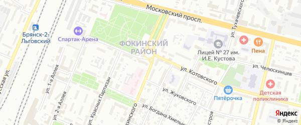 Улица Чапаева на карте Брянска с номерами домов