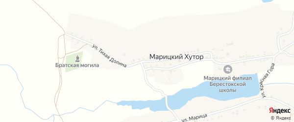 Улица Тихая Долина на карте села Марицкого хутора с номерами домов