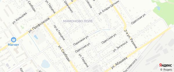 Парковая улица на карте Брянска с номерами домов