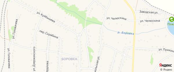 Комсомольский переулок на карте Фокино с номерами домов