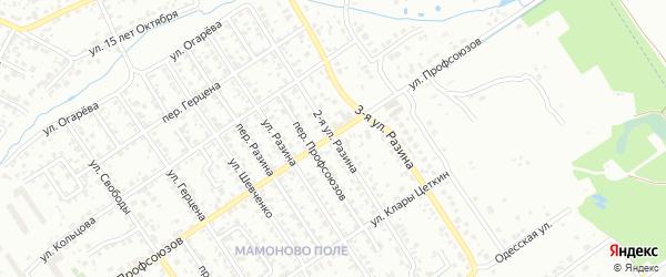 Улица 2-я Разина на карте Брянска с номерами домов