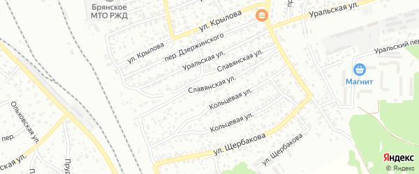 Славянская улица на карте Брянска с номерами домов