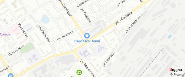 Улица Абашева на карте Брянска с номерами домов
