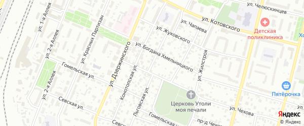 Льговская улица на карте Брянска с номерами домов