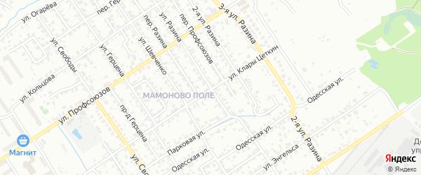 Улица Разина на карте Брянска с номерами домов
