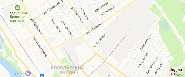 Территория ГО N4 по ул Достоевского на карте Брянска с номерами домов