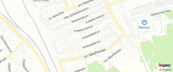 Кольцевая улица на карте Брянска с номерами домов