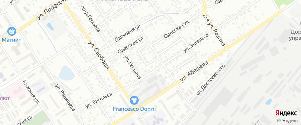 Переулок Энгельса на карте Брянска с номерами домов