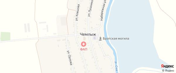 Улица Ковшова на карте села Чемлыжа с номерами домов