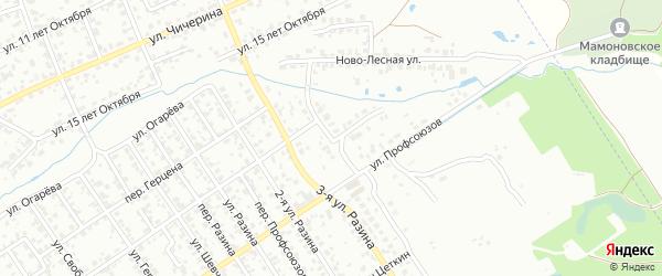 Улица 4-я Разина на карте Брянска с номерами домов