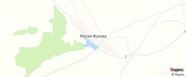 Карта деревни Малой Жукова в Брянской области с улицами и номерами домов