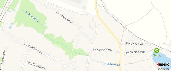 Улица Челюскина на карте Фокино с номерами домов