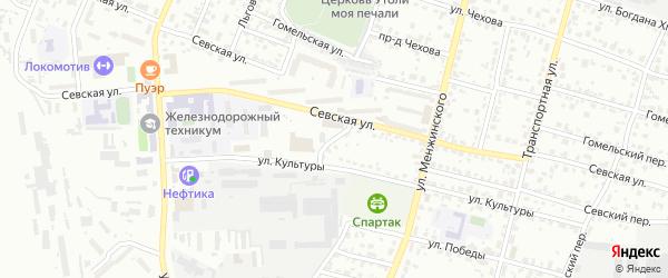 Севский проезд на карте Брянска с номерами домов
