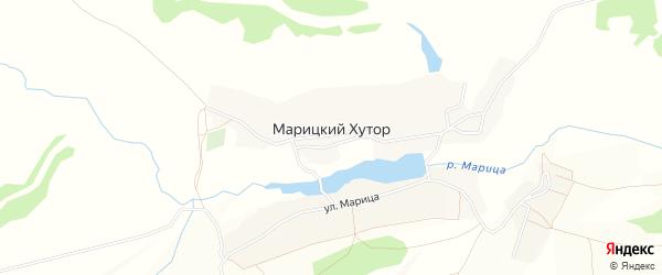 Карта села Марицкого хутора в Брянской области с улицами и номерами домов