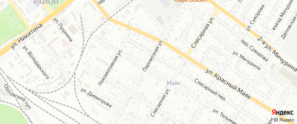 Паровозная улица на карте Брянска с номерами домов