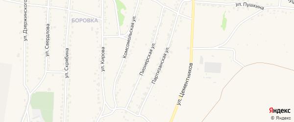 Пионерская улица на карте Фокино с номерами домов