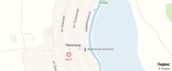 Набережная улица на карте села Чемлыжа с номерами домов