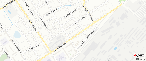 Спортивный переулок на карте Брянска с номерами домов