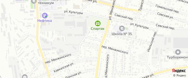 Переулок Победы на карте Брянска с номерами домов