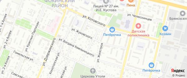 Улица Жуковского на карте Брянска с номерами домов