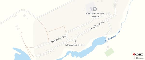 Школьная улица на карте села Княгинино с номерами домов