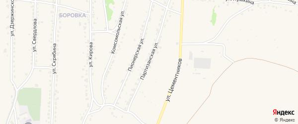 Партизанская улица на карте Фокино с номерами домов