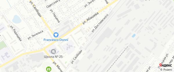 Улица Достоевского на карте Брянска с номерами домов