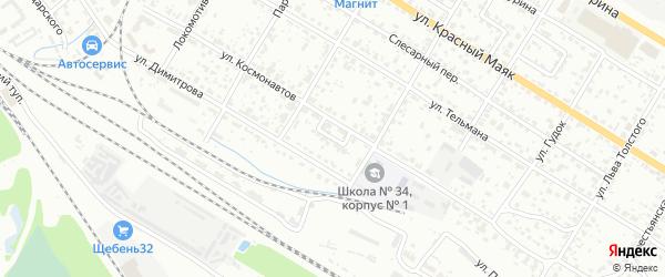 Переулок Островского на карте Брянска с номерами домов