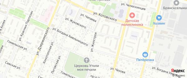 Улица Жилстроя на карте Брянска с номерами домов