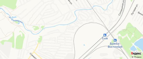 Территория СО Вишня-1 на карте Брянска с номерами домов