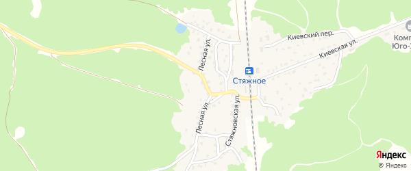 Лесная улица на карте поселка Стяжного с номерами домов