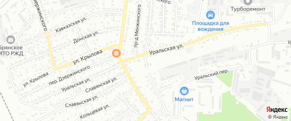 Ново-Дзержинский проезд на карте Брянска с номерами домов