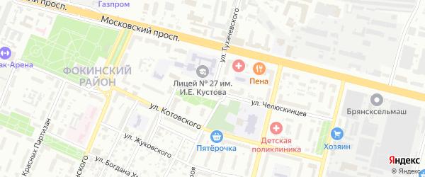 Улица Тухачевского на карте Брянска с номерами домов