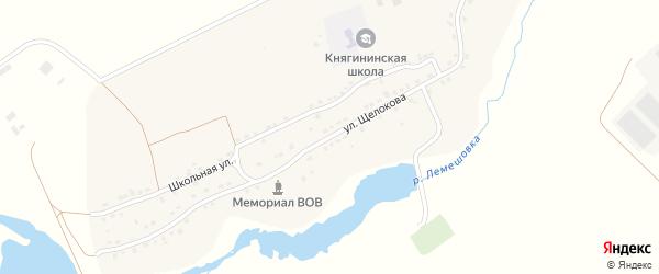 Улица Щелокова на карте села Княгинино с номерами домов