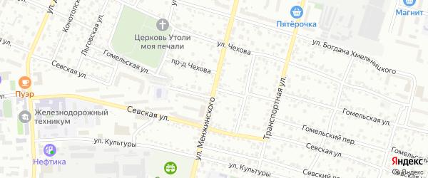 Гомельская улица на карте Брянска с номерами домов